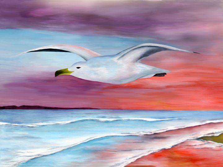 Gull at Sunset - Albert Kopper