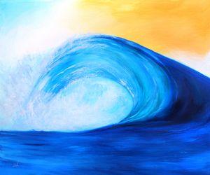 Blue Wave Yellow Sky