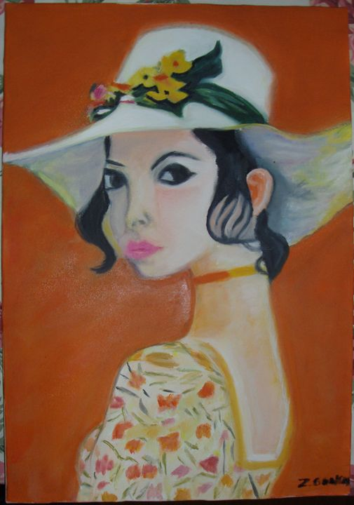 GIRL WITH A HAT - ROSEBUD