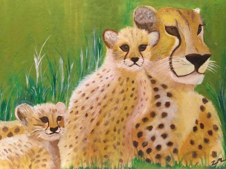 Cheetah Mom and Baby - SS Art Studio