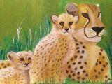 Cheetah Mom and Baby