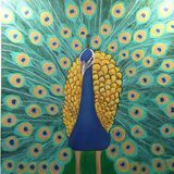 The Gold and Blue Peacock