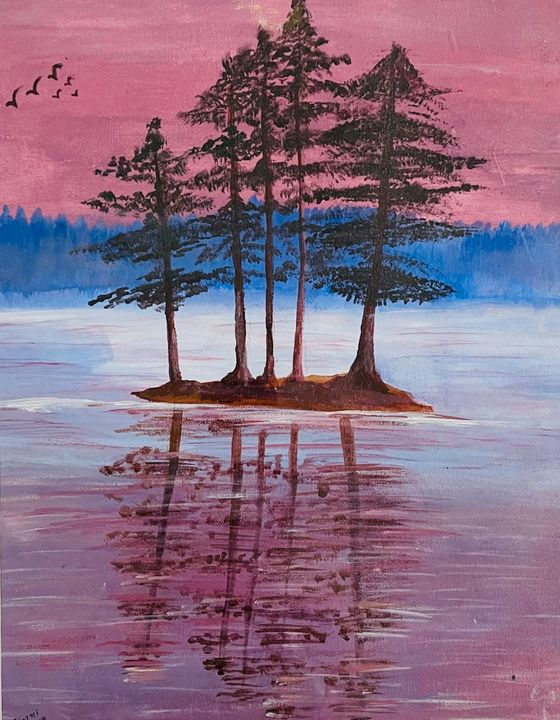 The Pink Sky Reflection - SS Art Studio