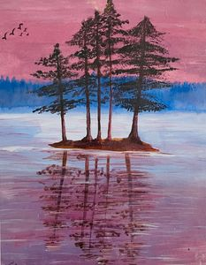 The Pink Sky Reflection