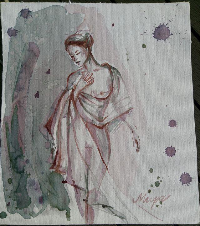 Maria - Wine Art - Mira Kovacevic