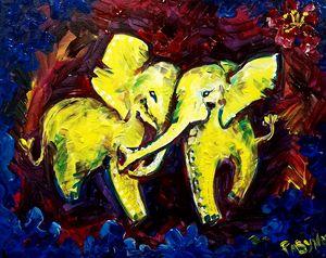elephants on the disco