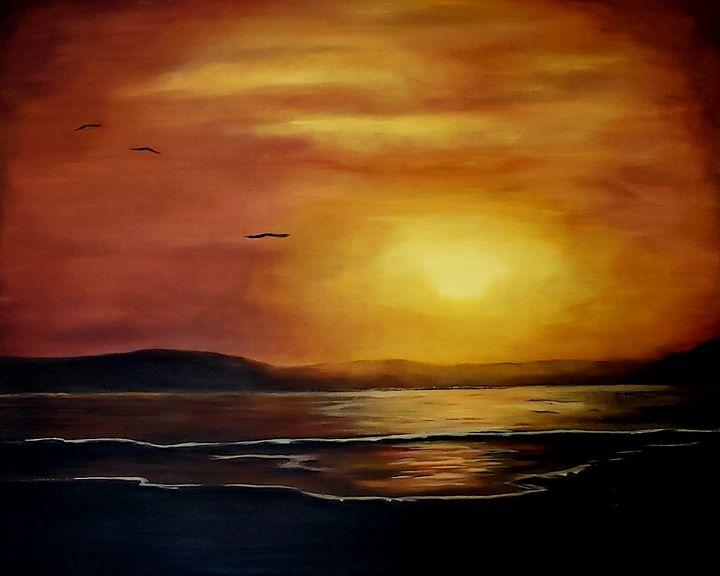 Orange sunset - Kathlene melvin