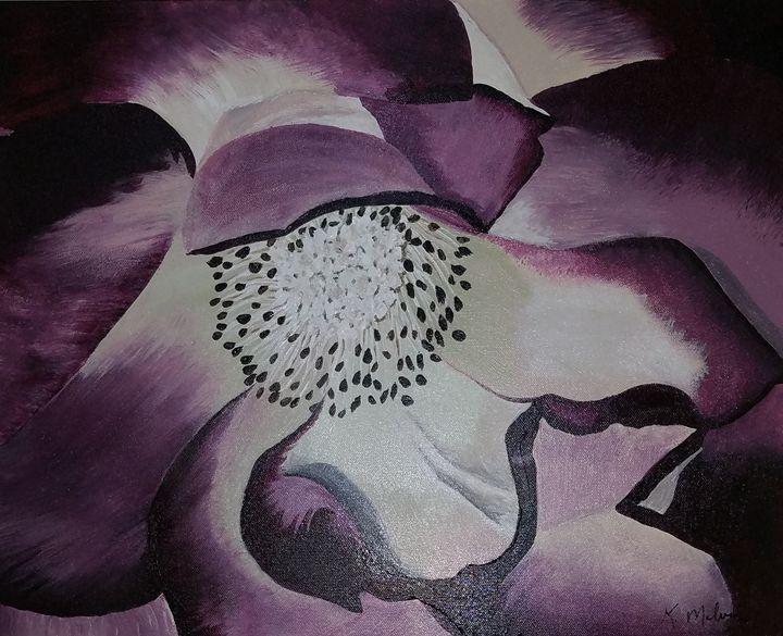 Purple Flower in the dark - Kathlene melvin