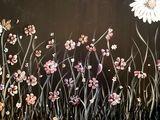 Flowers on canvas panel