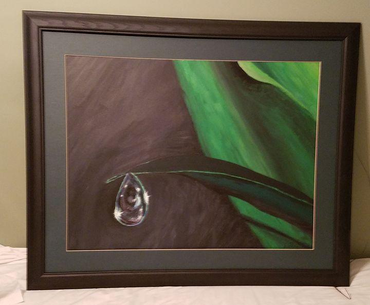 Framed original morning dew - Kathlene melvin
