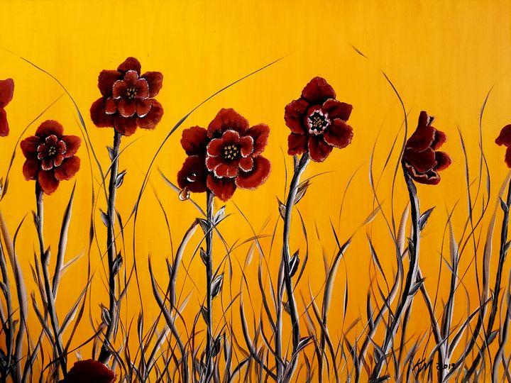 Red analogous flowers - Kathlene melvin