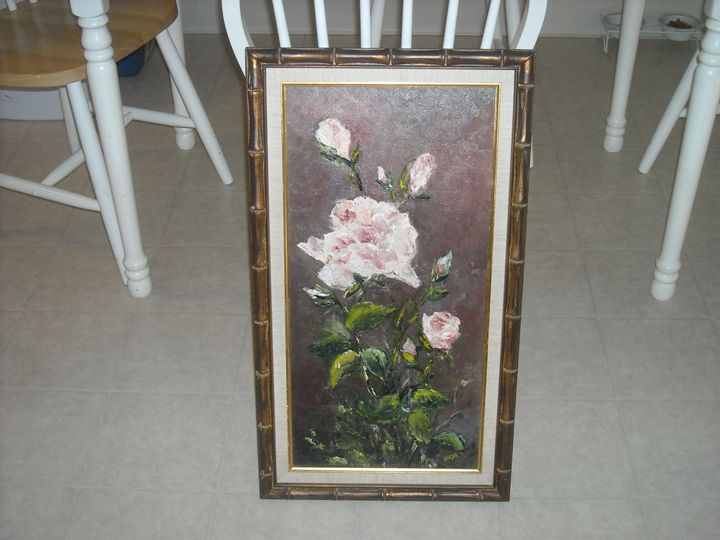 Vintage Oil painting Signed by Hilja - Good Show my Friend