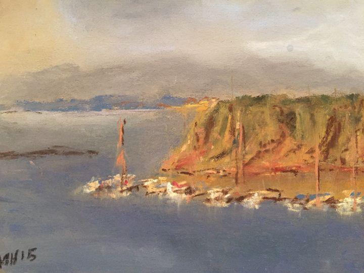 """Coastal boats - Pastel 5x7"""" - MiniPastels"""
