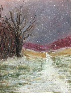 "Snow - Pastel 5x7"""