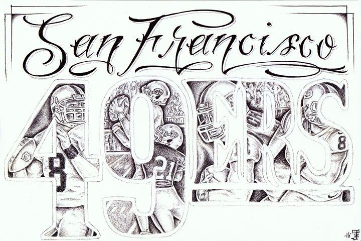 San Francisco 49ers - Prison art by Jose Z