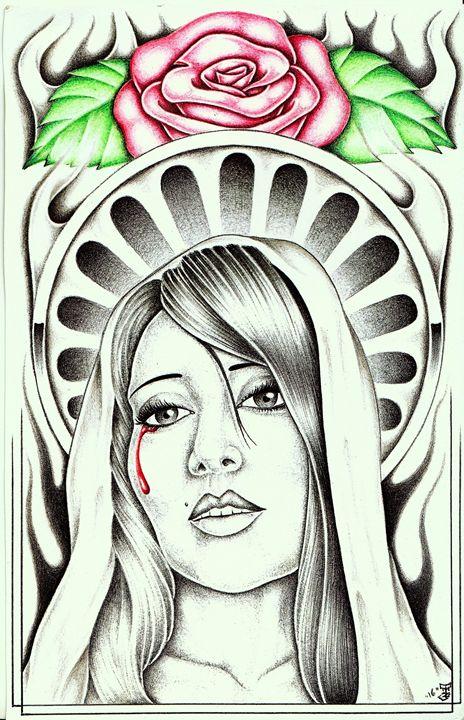 Virgin Mary - Prison art by Jose Z