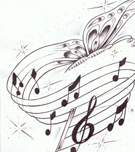 butterflies and music