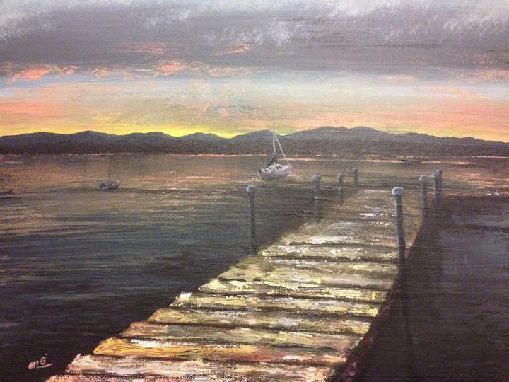 Sunset Over Lake Onota - Rising Sun Studio