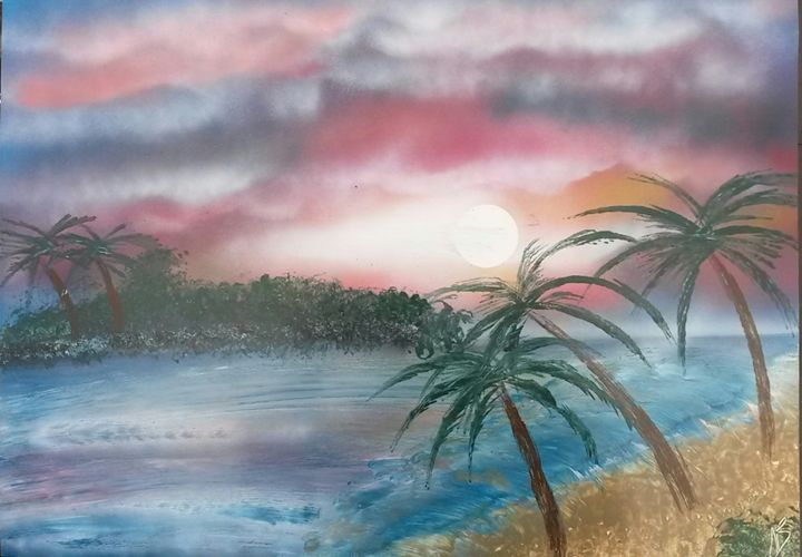 A View of the Sunset Beach - Nathan's Spray Monay