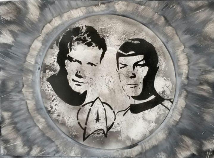 Kirk and Spock - Nathan's Spray Monay