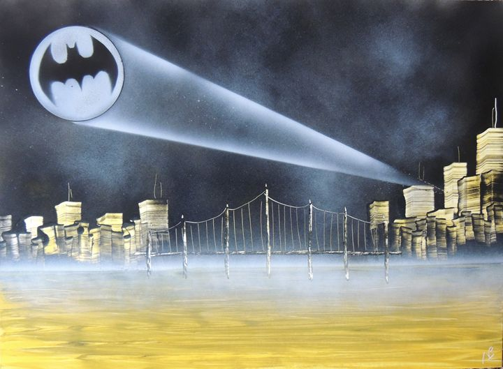 Bat Signal City - Nathan's Spray Monay