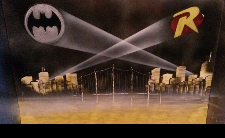 Batman and Robin - Nathan's Spray Monay