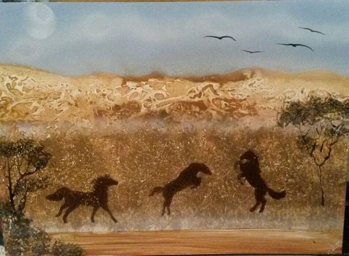 Wild Horses - Nathan's Spray Monay