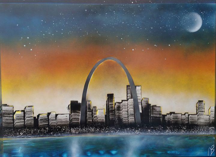 St. Louis Skyline - Nathan's Spray Monay
