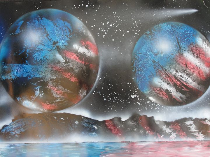 Patriotic Planets - Nathan's Spray Monay