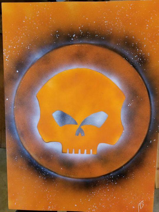 Harley Skull - Nathan's Spray Monay