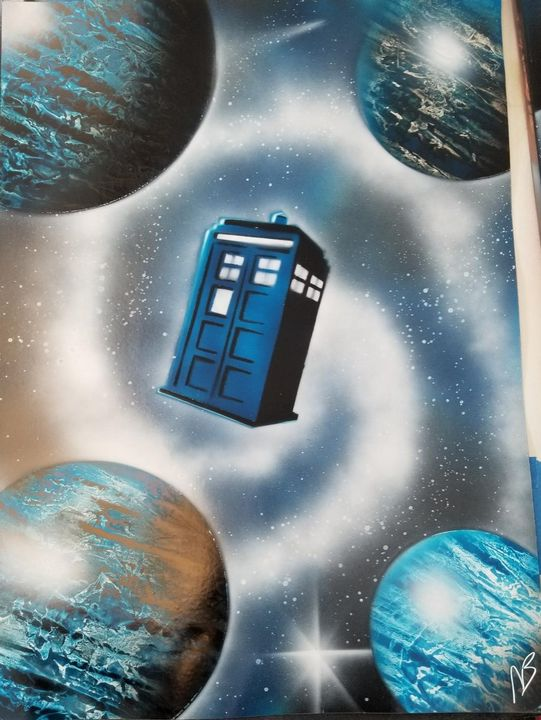 Dr Who Teleporting - Nathan's Spray Monay