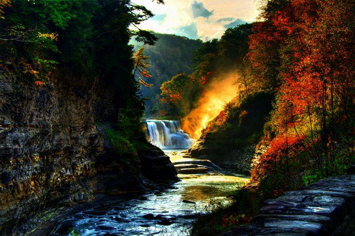 Autumn Falls - D. van Doorn