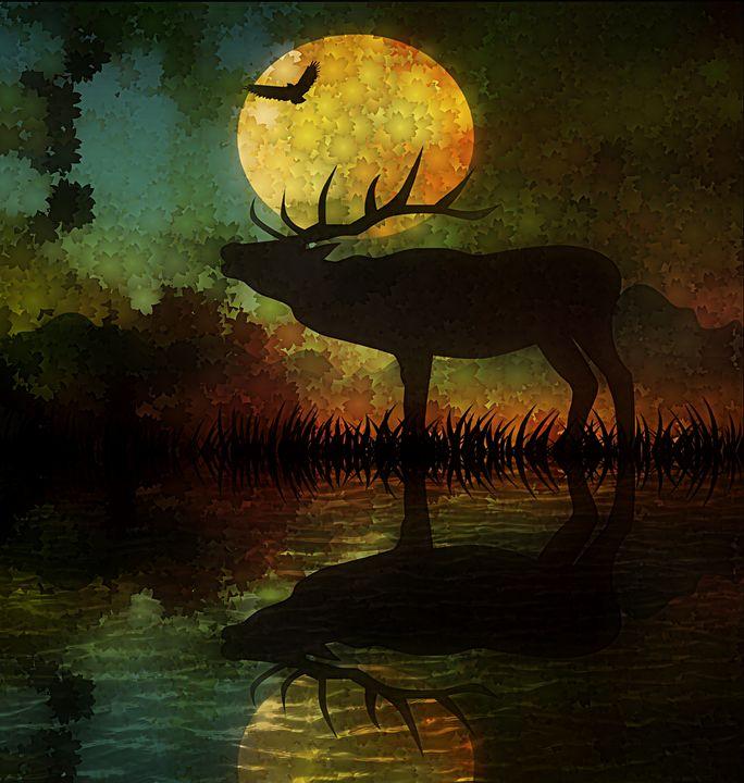 Autumn Elk - D. van Doorn