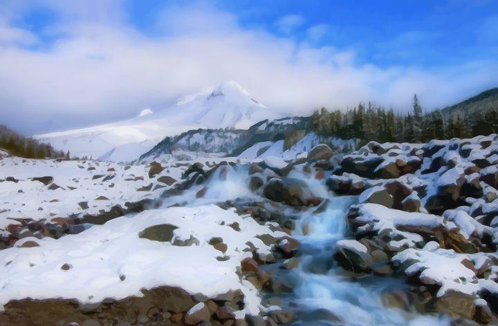Winter Stream - D. van Doorn
