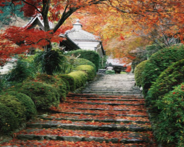 Autumn Stairs - D. van Doorn