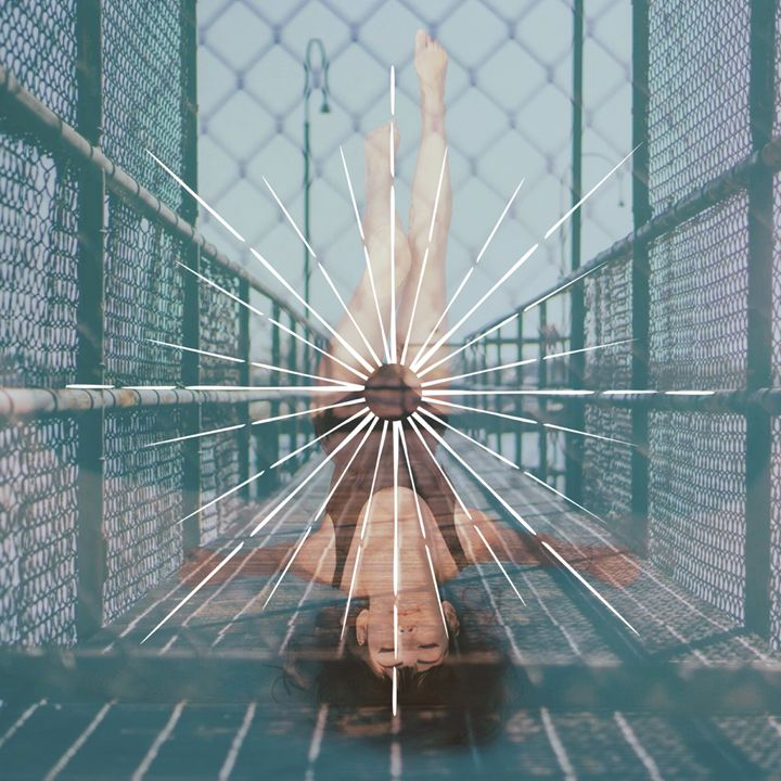 Floating woman on a bridge - Art by us 2