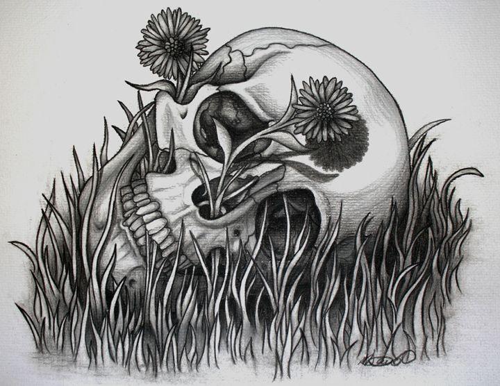 Down and Dandy Skull - Sticky Nikki's Art!