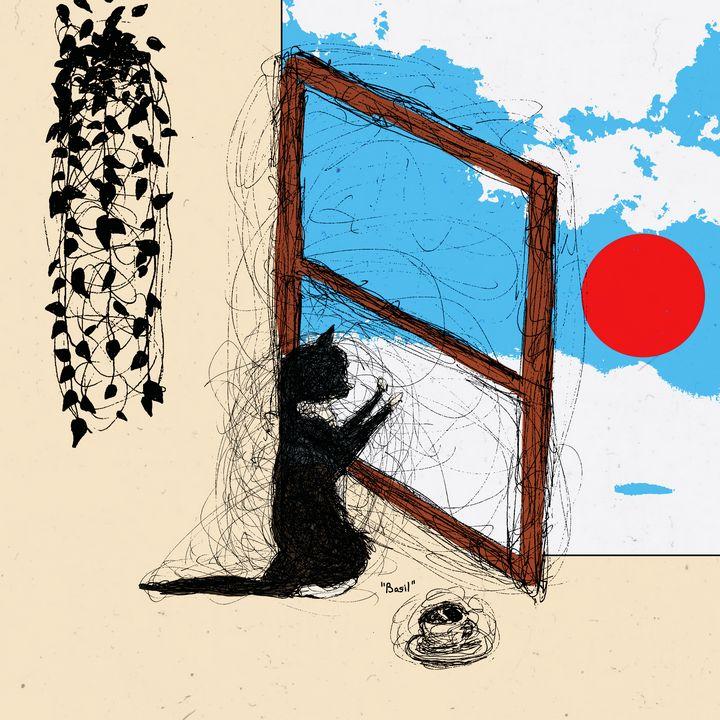 Cat in the Window - Ryan Stark