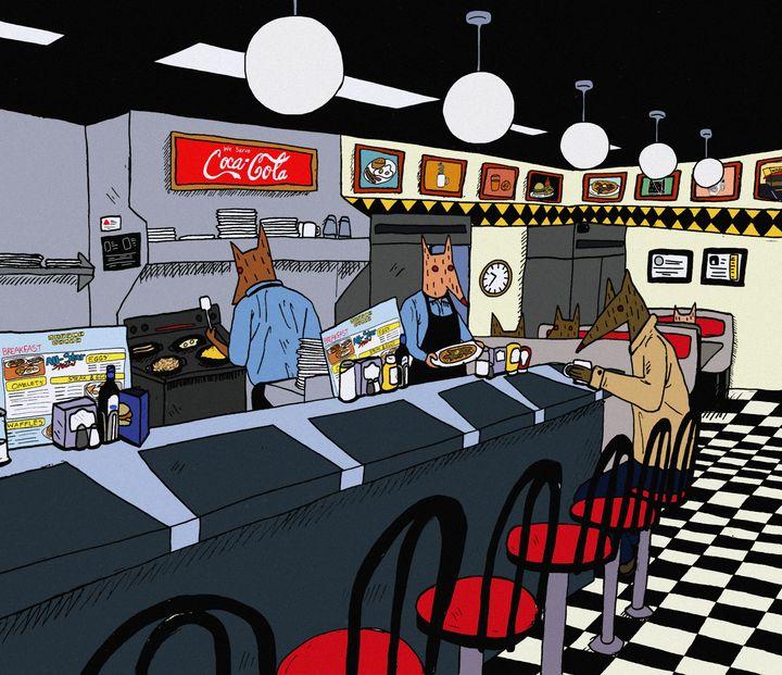 In a Waffle House - Ryan Stark