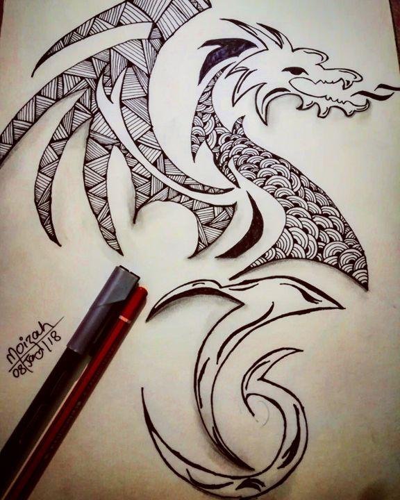 Dargon #doodle - Moizah's art