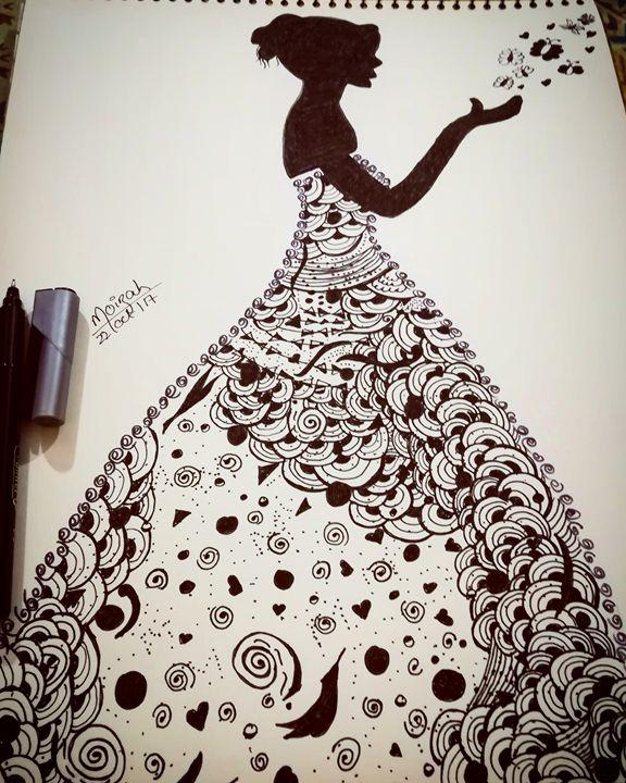 Girl #doodle - Moizah's art