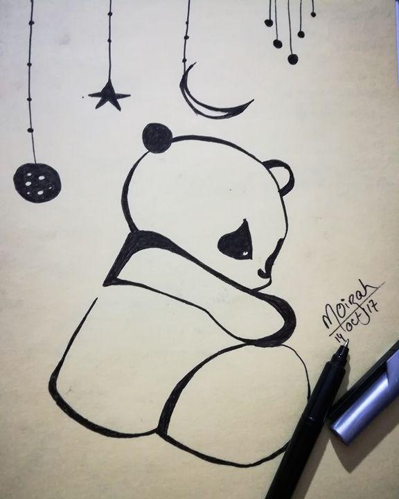 Panda #doodle - Moizah's art