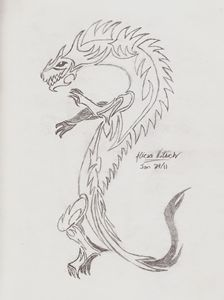 Tribal Wingless Dragon
