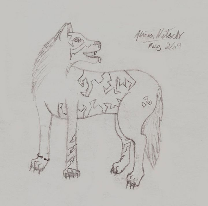 Tribal Wolf Character - A Little Bit Of Everything