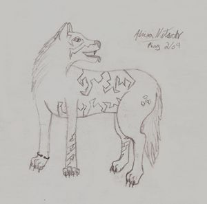Tribal Wolf Character