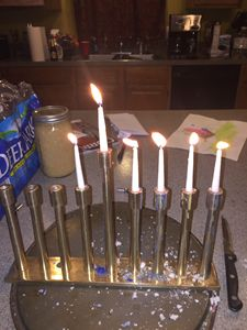 Hanukkah in Wax