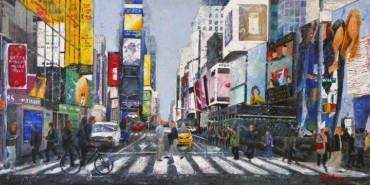 Crossing the street (En traversant) - Dominique Pochinot