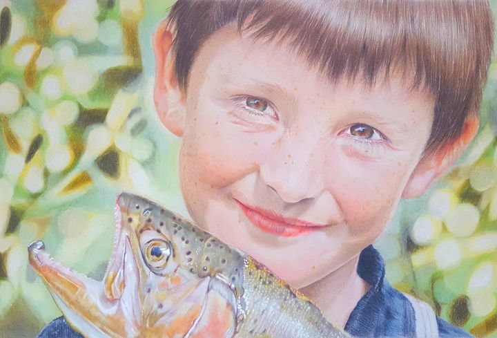 The Biggest Catch - Lesley Martyn Art
