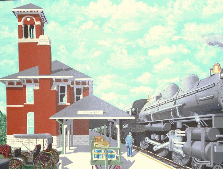 Green Bay Station Circa 1910 - Dan Bader
