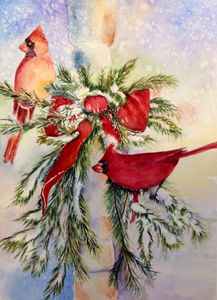 Christmas time- Cardinals - Mahjabin